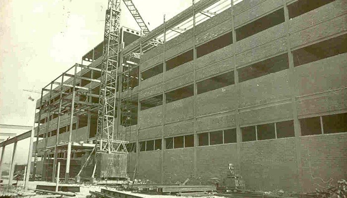 "1974Construction of ""Unidad Hermética"" the second factory in Sant Quirze del Vallés, Barcelona – Spain"