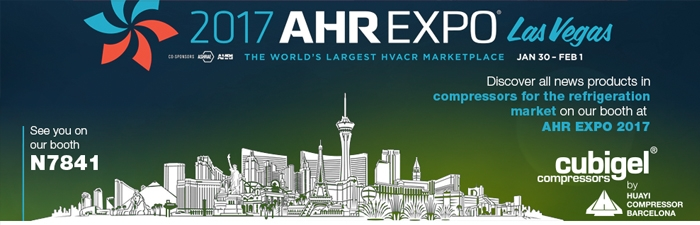 Huayi Compressor Barcelona will participate in the AHR Expo Las Vegas (30th January to 1st February 2017)