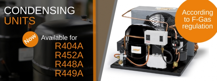 New range of eco-design multi-refrigerant R404A • R452A • R448A • R449A condensing units  by Cubigel Compressors