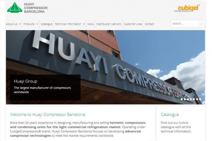 Huayi Compressors Barcelona launches the new Website