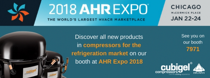 Second year at AHR Expo next January 2018 in Chicago